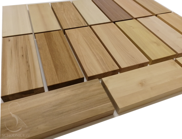 Druhy dřeva na schody